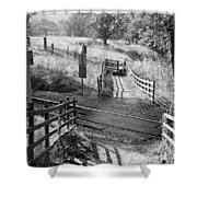 Unmanned Railway Crossing At Hope Shower Curtain