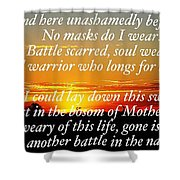 Unmasked Shower Curtain