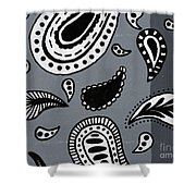 Untitled Paisley 2 Of 3 Shower Curtain