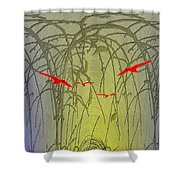 Unto The Technicolor Rainbow Shower Curtain