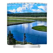 Up A Lazy River Shower Curtain