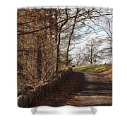 Up Over The Hill Shower Curtain