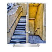 Up Stairs Down Stairs Shower Curtain