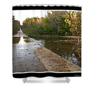 Up The Hill To Home Shower Curtain