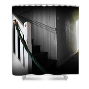 Up The Wooden Hill Shower Curtain