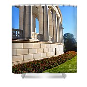 Upclose Of Arlington Memorial Amphitheater Shower Curtain