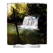 Upper Butte Creek Falls 2 Shower Curtain