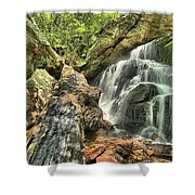 Upper Cascade Hidden Falls Shower Curtain