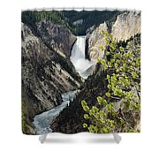 Upper Falls Of The Yellowstone River Shower Curtain