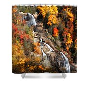 Upper Whitewater Falls Shower Curtain