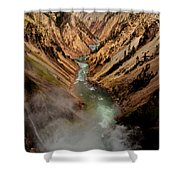 Upper Yellowstone Falls Shower Curtain