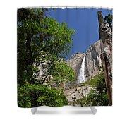 Upper Yosemite Falls Shower Curtain