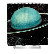 Uranus With Its Rings Shower Curtain
