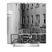 Urban Convergence Black And White Shower Curtain