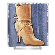 Urban Cowgirl Suede Boots Shower Curtain