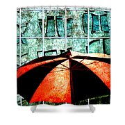 Urban Umbrella Shower Curtain