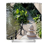 Urn And Pathway Shower Curtain