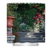 Urn And Steps At A Villa On Lake Como Shower Curtain