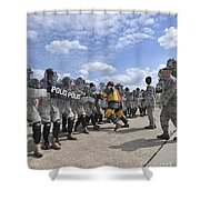 U.s. Air Force 86th Security Forces Shower Curtain by Stocktrek Images