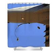 U.s Air Force Airmen Parachute Shower Curtain