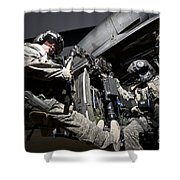 U.s. Air Force Crew Strapped Shower Curtain