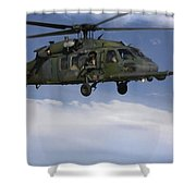 U.s. Air Force Hh-60 Pave Hawks Conduct Shower Curtain