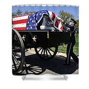 U.s. Air Force Honor Guard Straightens Shower Curtain