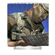 U.s. Air Force Lieutenant Reviews Shower Curtain