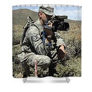 U.s. Air Force Sergeant Shoots Video Shower Curtain