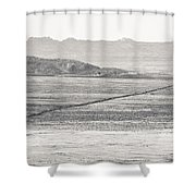 U.s. Alt-89 At Vermilion Cliffs Arizona Bw Shower Curtain