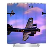 Us Army Air Corps B17g Flying Fortress Shower Curtain