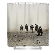 U.s. Army Captain Provides Security Shower Curtain