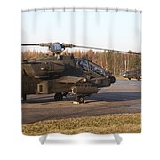U.s. Army Helicopters At The Letzlingen Shower Curtain