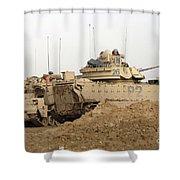 U.s. Army M2 Bradley Infantry Fighting Shower Curtain