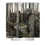 U.s. Army Soldier Communicates Possible Shower Curtain