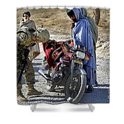 U.s. Army Soldier Conducts Vehicle Shower Curtain