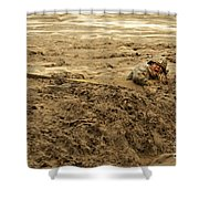U.s. Army Soldier Fights Racing Water Shower Curtain