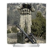 U.s. Army Soldier Gets Information Shower Curtain