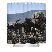 U.s. Army Soldier Provides Overwatch Shower Curtain