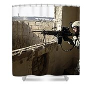 U.s. Army Soldier Searching Shower Curtain by Stocktrek Images