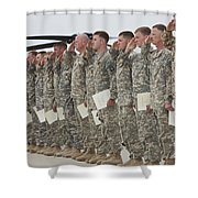 U.s. Army Soldiers And Recipients Shower Curtain