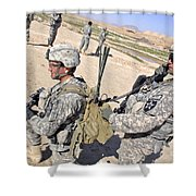 U.s. Army Soldiers Call In An Update Shower Curtain