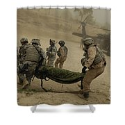 U.s. Army Soldiers Medically Evacuate Shower Curtain