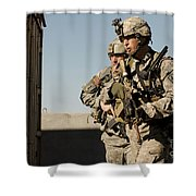 U.s. Army Soldiers Search A Site Shower Curtain