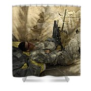 U.s. Army Specialist Takes A Nap Shower Curtain
