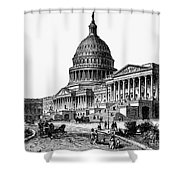 U.s. Capitol, 1884 Shower Curtain