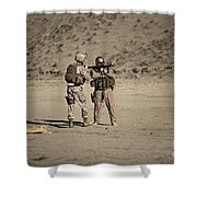 U.s. Contractor Firing An Automatic Shower Curtain