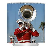 U.s. Marine Corps Drum And Bugle Corps Shower Curtain