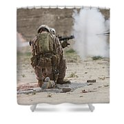 U.s. Marine Fires A Rocket-propelled Shower Curtain