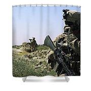 U.s. Marine Uses A Radio Shower Curtain